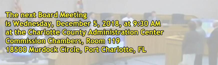 Board Meeting, December 5, 2018